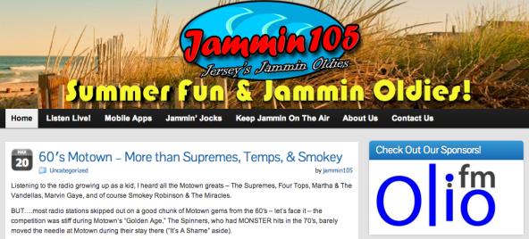 Olio.fm Supports Jammin 105